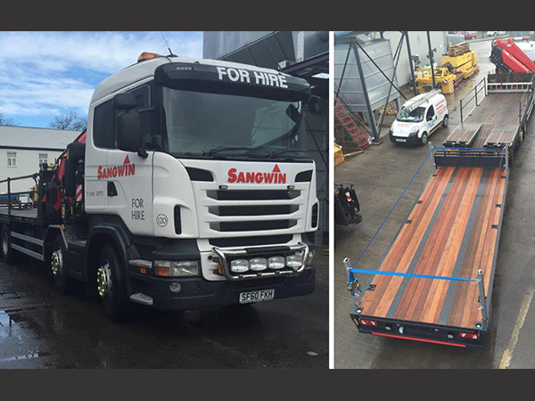 Sangwin Plant Hire Invest in Towing Flatbed Trailer