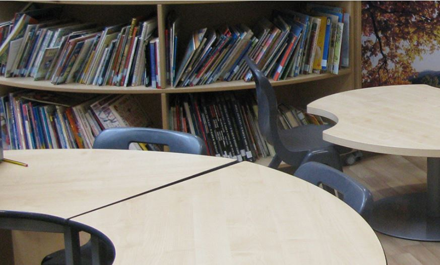 Flooded School Library Finally Replaced